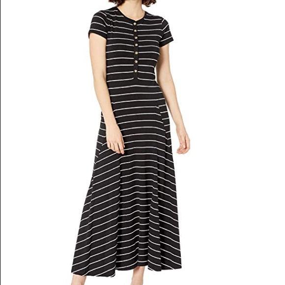 Lauren Ralph Lauren Dresses & Skirts - Lauren Ralph Lauren Black Striped Henley Dress